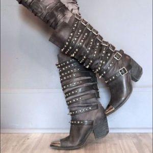 Jeffrey Campbell Kravitz Studded Boots sz 10